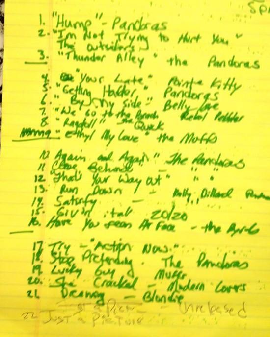 Pandoras Set List