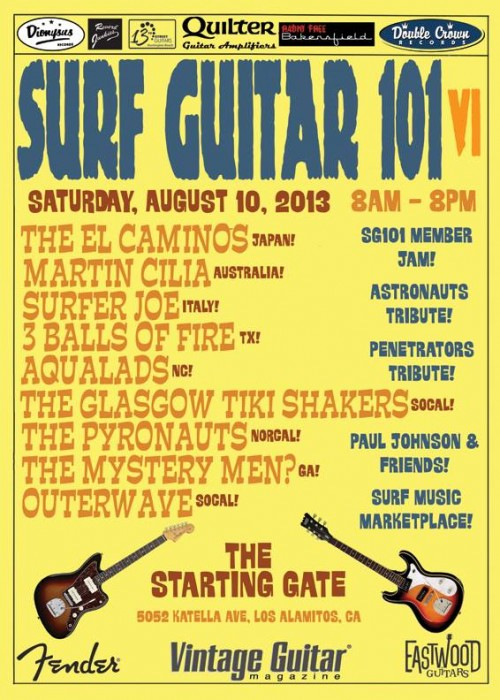 Surf Guitar 101 Convention 2013 Front