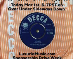 Luxura Sponsorship Week Continues – All Brit 45s on OUSD 2dayt 5-7PST