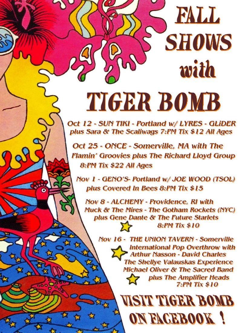 Tiger Bomb Shows Fall 2019 Poster