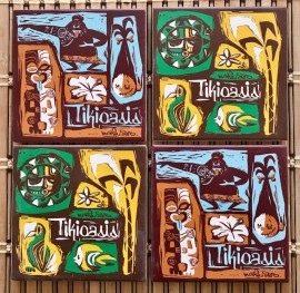 Tiki Oasis Mookie Sato Ceramic Coaster Set