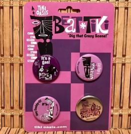 Tiki Oasis 14 Beat Tiki Button Set