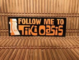 Tiki Oasis Bumper Sticker Brown