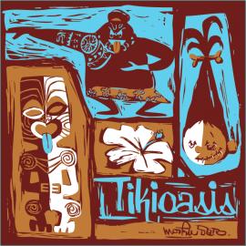 Tiki Oasis Mookie Art Coaster Set