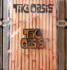 Tiki Oasis Enamel Logo Pin Silver, Brown, and Orange