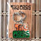 Tiki Oasis Logo Keychain Orange and Green