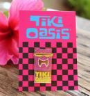 Tiki Oasis 19 New Wave Enamel Tiki Pin