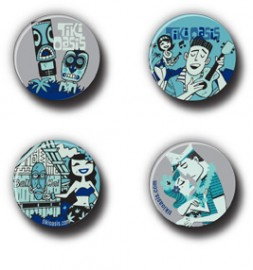 Tiki Oasis 18 South Seas Cinema Button Set