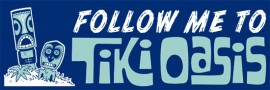 Tiki Oasis Bumper Sticker Blue