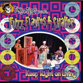 V/A - TONY THE TYGER PRESENTS FUZZ, FLAYKES, & SHAKES VOLUME FIVE: KEEP RIGHT ON LIVING CD