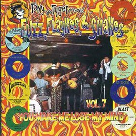 V/A - TONY THE TYGER PRESENTS FUZZ, FLAYKES & SHAKES VOLUME SEVEN: YOU MAKE ME LOSE MY MIND CD