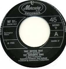 THE FAVOURITE SONS - That Driving Beat / Walkin' Walkin' Walkin'