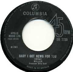 MILLER - Baby I Got News For You / The Girl With The Castle