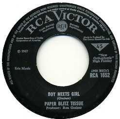 PAPER BLITZ TISSUE - Boy Meets Girl / Grey Man